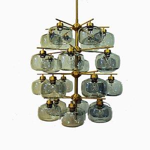 Lámpara de araña de 24 vidrios de Holger Johansson para Westal, 1952