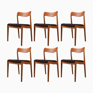 Mid-Century Chairs, 1960s, Set of 6