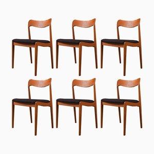 Mid-Century Stühle, 1960er, 6er Set