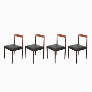 Deutsche Esszimmerstühle aus Teak von Lübke, 1960er, 4er Set
