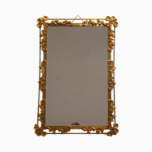 Gilded Metal Wall Mirror, 1950s