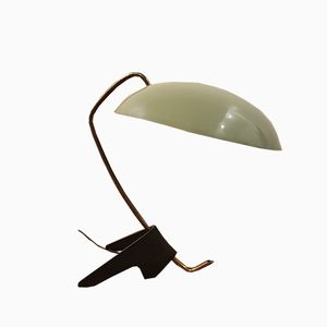 Cocotte Tripod Lamp in Green & Black Lacquered Metal, 1950s