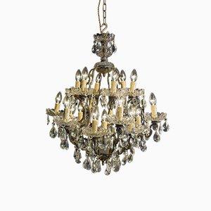 Lámpara de araña Maria Theresa antigua de bronce