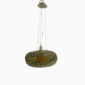 Italian Silver Ceiling Light, 1980s