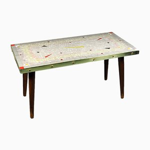 Mid-Century Table with Glass Mosaic from Paul Orgus, 1950s