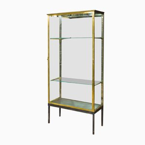 Vitrine aus Messing, 1970er
