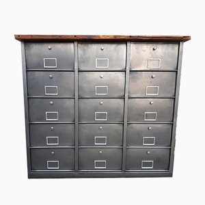Vintage Industrial Metal Cabinet from Roneo