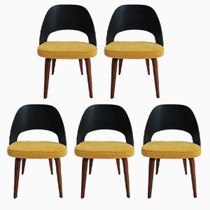 Sillas de oficina vintage de Eero Saarinen para Knoll. Juego de 5