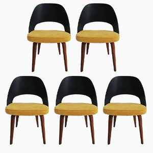 Vintage Executive Chairs by Eero Saarinen for Knoll, Set of 5