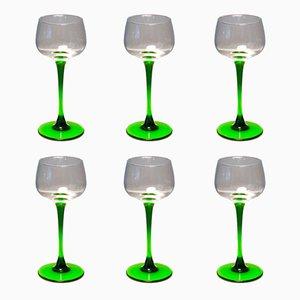 Copas de vino francesas vintage de Luminarc, años 70. Juego de 6