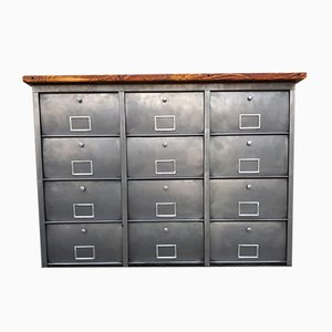 Industrial 12 Door Filing Cabinet from Roneo, 1950s