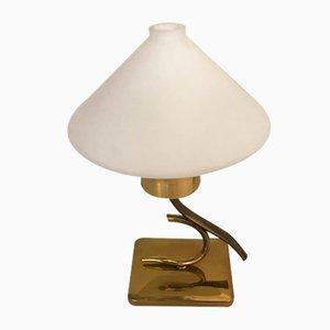 Lampade da tavolo in vetro opalino di Stilnovo, anni '50, set di 2