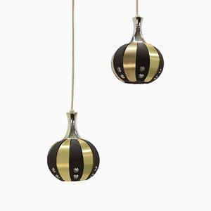 Lámparas colgantes Mid-Century de Werner Schou, años 70. Juego de 2