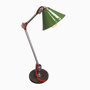 Lámpara de mesa industrial vintage de Clamart