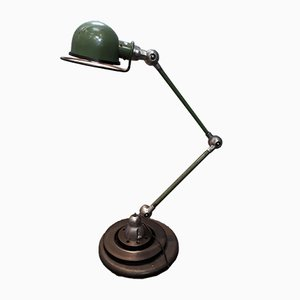 Lampada industriale verde di Jean-Louis Domecq per Jieldé