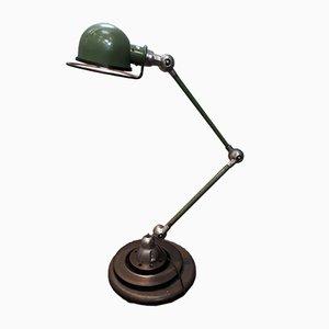 Lámpara industrial verde de Jean-Louis Domecq para Jieldé