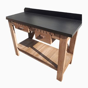 Industrieller Vintage Arbeitstisch mit Schubladen