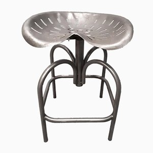 Industrial Metal Stool from Heliolite, 1960s