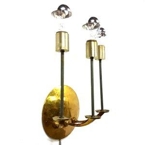 Brass Wall Lamp, 1950s