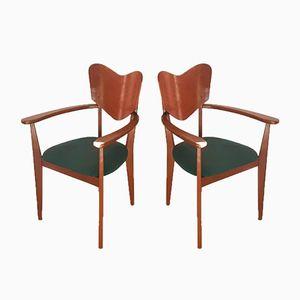 Mid-Century Stühle, 2er Set