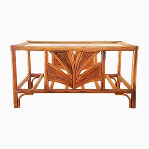 Bamboo and Glass Coffee Table, 1970s