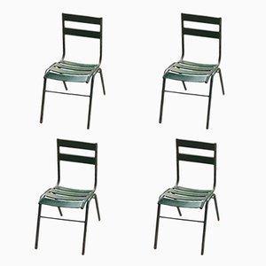 Spanische Vintage Stühle aus Eisen, 4er Set