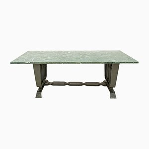 Travertine and Wrought Iron Table by Pier Luigi Colli, 1920s