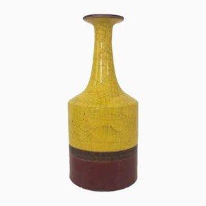Glasierte Keramik-Vase von Guido Gambone, 1950er