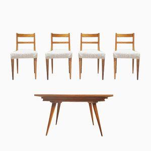 Tavolo Mid-Century con quattro sedie, anni '60