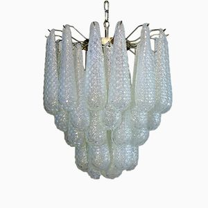 Large Italian Murano Glass Chandelier from Mazzega, 1979