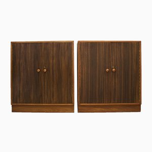 Mid-Century Nussholz Schrank von The Grange of London, 2er Set