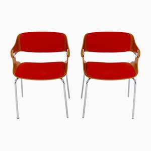 Chaises d'Appoint par Eugen Schmidt, 1960s, Set de 2