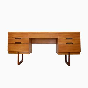 Mid-Century Q Range Teak Desk or Dressing Table by Gunther Hoffstead for Uniflex