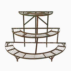 Vintage French Half-Moon Plant Stand
