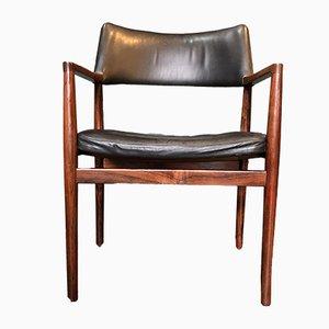 Chaise de Bureau en Palissandre par Erik Wørts, Danemark, 1950s
