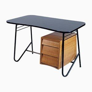Französischer freistehender Mid-Century Schreibtisch, 1950er