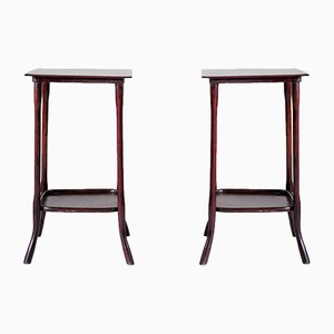 Antique Model 9136 Servant Tables by Michael Thonet for Gebrüder Thonet Vienna GmbH, Set of 2
