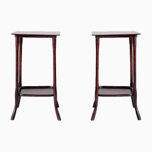 Tavolini modello 9136 Servant di Michael Thonet, set di 2