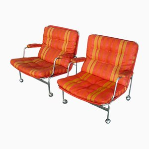 Swedish Karin Armchairs by Bruno Mathsson for Dux, 1960s, Set of 2