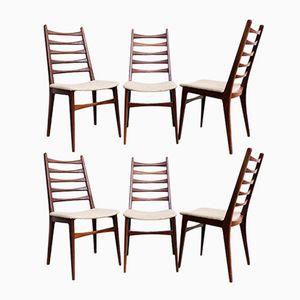 German Walnut Chairs from Lübke, 1960s, Set of 6