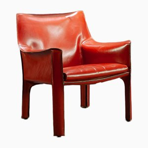 Model 414 Cab Lounge chair by Mario Bellini for Cassina, 1980s