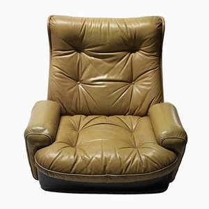 Vintage Leather Lounge Chair from Airborne International, 1970s
