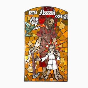 Mosaico mural de vidrio esmaltado de Frans Balendong, años 70
