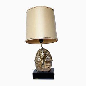 Lampada da tavolo Pharaoh Mid-Century in bronzo, anni '60