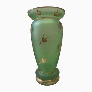 Französische handgeblasene Vase aus Milchglas, 1950er