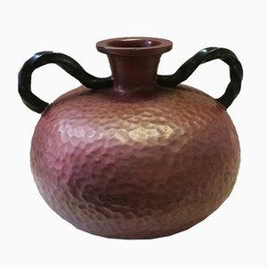 Mid-Century glänzende Keramik-Vase von Ars Artigiana für Deruta