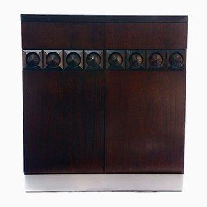 Mueble bar brutalista, años 70