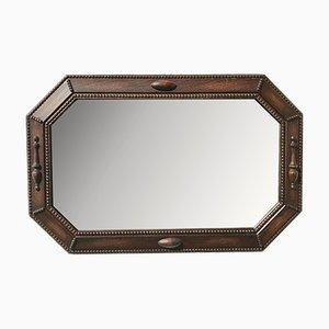Specchio da parete grande vintage ottagonale, anni '30