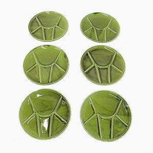 Platos de fondue de Gien, años 70. Juego de 6
