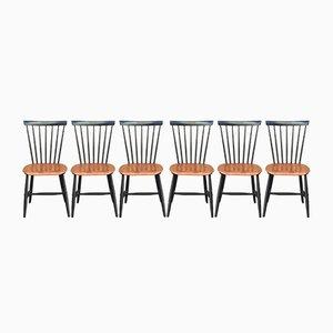 Dänische Fanett Stühle von Ilmari Tapiovaara, 1960er, 6er Set